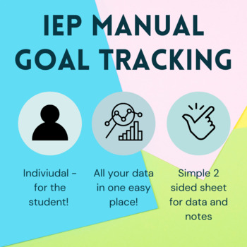 IEP Goal Tracking Sheet (Whole year in one page!) *Completely editable*