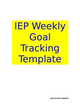 IEP Goal Tracking Template