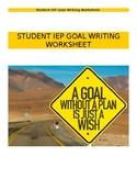 IEP Goal Writing Worksheet