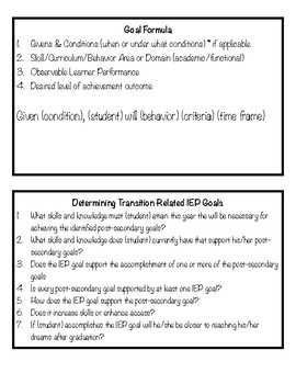 IEP Goals & Accommodation References
