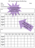 IEP Goals Data Collection / Progress Monitoring Template