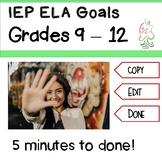 IEP Goals ELA  High school common core objectives to CUT a
