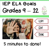 IEP Goals ELA  High school common core objectives to CUT a
