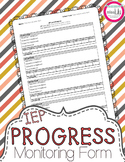 IEP Goals Progress Monitoring Form