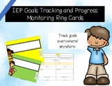 IEP Goals Tracking and Progress Monitoring Ring Cards