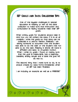 IEP Goals and Data Collection Tips