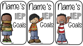 IEP Goals and Objectives Editable Rings