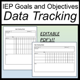 IEP Goals and Objectives Tracking Editable Forms [IEP Goals Monitoring Sheets]