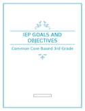 IEP Goals and Objectives for 3rd Grade Reading Based on Ohio Learning Standards