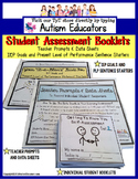 AUTISM - IEP Goals and PLP Statement Starters with Skills Assessment Booklets