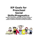 IEP Goals for Preschool Social Skills/Pragmatics