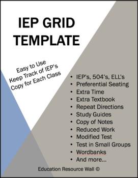 IEP Grid Template