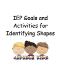 IEP Goals and Activities for Identifying Shapes