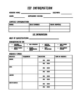 IEP Information Sheet