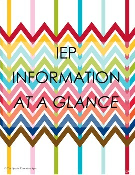 IEP Information at a Glance