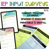 Parent Survey | Teacher Questionnaire | English & Spanish