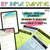 Special Education Forms-Input Sheets in English & Spanish