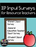 IEP Input Surveys for Resource Teachers - Distance Learnin