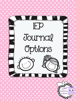 IEP - Journal Options