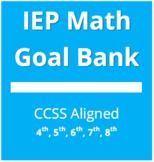 IEP Math Goal Bank - Grades 4, 5, 6, 7, 8