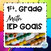 IEP Goals Math Objectives First Grade Common Core goals in SMART format