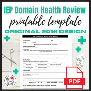 IEP Medical Review Sheet PDF