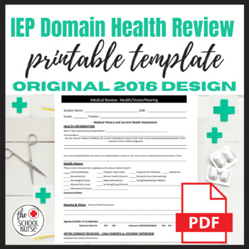 IEP Medical Review Sheet