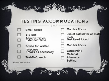 IEP Meeting Accomodations, Modifications, and Services  Checklist