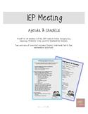 IEP Meeting Agenda & Checklist