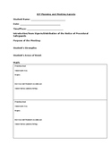IEP Meeting Agenda- Standards Based/Evaluation Driven