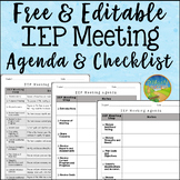 IEP Meeting Agenda and Checklist