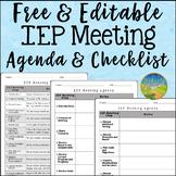 IEP Meeting Agenda and Checklist
