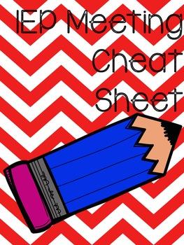 IEP Meeting Cheat Sheet