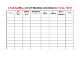 IEP Meeting Checklist