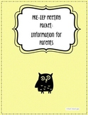 EDITABLE!! IEP Information Packet for Parents! A tool to p
