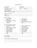 IEP Meeting Information Sheet