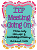 IEP Meeting Inside Posters