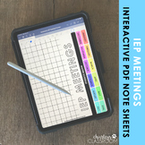 IEP Meeting Interactive Planning Sheets | for Good Notes
