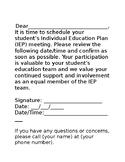 IEP Meeting Note