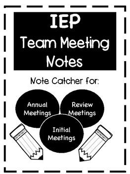 IEP Meeting Note Catcher