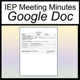 IEP Meeting Notes [IEP Meeting Minutes] [Sped Meeting Minu