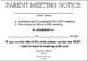 IEP Meeting Notice Cards