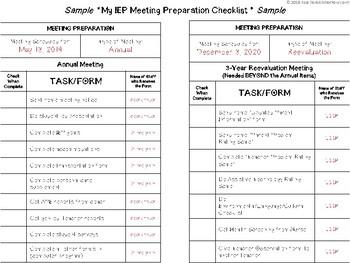 IEP Meeting Organization GUIDE