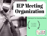 IEP Meeting Organization * Special Education * Fillable Te