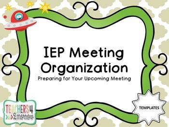 IEP Meeting Organization TEMPLATES
