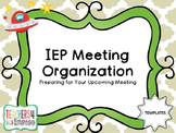 IEP Meeting Organization TEMPLATES