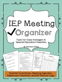 IEP Meeting Organizer- Checklists, Forms, Logs & Agendas