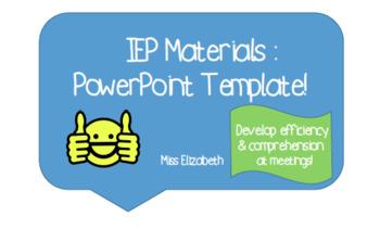 IEP Meeting PowerPoint Template