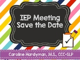 IEP Meeting Save the Date