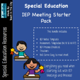 IEP Meeting Starter Pack! Notes Template, Assessment Tools, Checklists, and MORE
